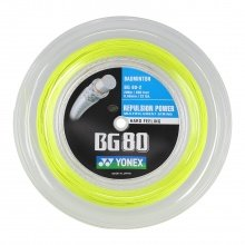 Yonex Badmintonsaite BG 80 0.68mm gelb 200m Rolle