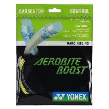 Yonex Aerobite Boost Hybrid 0.61/0.72 grau/gelb Badmintonsaite
