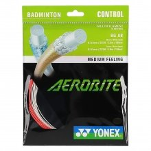 Besaitung mit Yonex Aerobite Hybrid weiss/rot