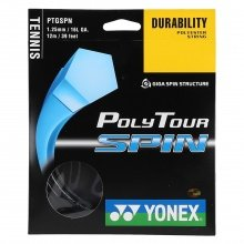 Yonex Poly Tour Spin schwarz Tennissaite