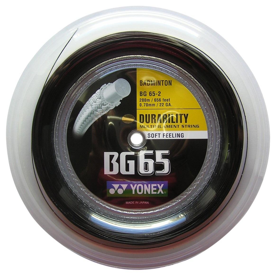 Yonex BG 65 0.70 schwarz 200 Meter Rolle versandkostenfrei ...