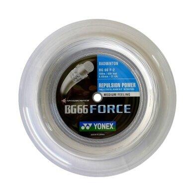 Yonex BG 66 FORCE weiss 200 Meter Rolle