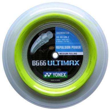 Yonex BG 66 Ultimax gelb 200 Meter Rolle