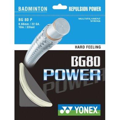 Besaitung mit Yonex BG 80 Power weiss