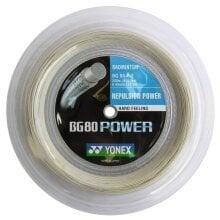 Yonex Badmintonsaite BG 80 Power 0.68mm weiss 200m Rolle