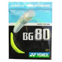 Yonex BG 80 0.68mm gelb Badmintonsaite