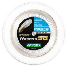 Yonex Badmintonsaite Nanogy 98 (Power+Touch) grau 200m Rolle