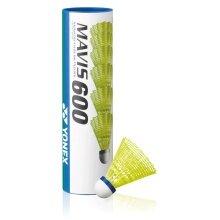 Yonex Mavis 600 Nylonbälle gelb 6er Dose
