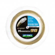 Yonex Badmintonsaite Nanogy 98 (Power+Touch) gold 200m Rolle