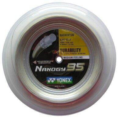 Yonex Nanogy 95 silber 200 Meter Rolle