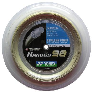 Yonex Nanogy 98 gold 200 Meter Rolle