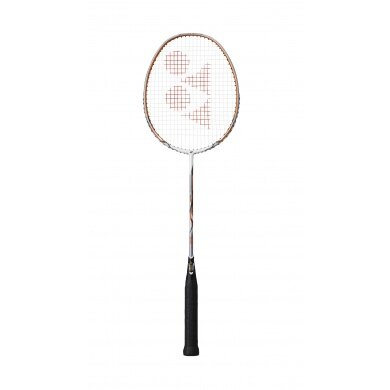 Yonex Nanoray 10 F 2016 weiss/orange Badmintonschläger - besaitet -