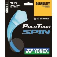 Yonex Tennissaite Poly Tour Spin (Haltbarkeit+Spin) hellblau 12m Set