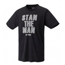Yonex Trainings-Tshirt Stan the Man #19 (Baumwolle) schwarz Herren