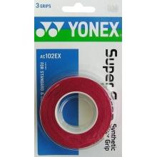 Yonex Overgrip Super Grap 0.6mm rot 3er