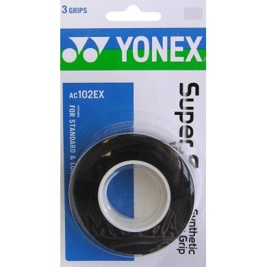 Yonex Super Grap 0.6mm Overgrip 3er schwarz