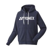 Yonex Kapuzenhoodie Full Zip Logo 2019 navy Herren