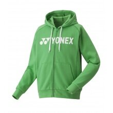 Yonex Kapuzenhoodie Full Zip Logo 2020 grün Herren