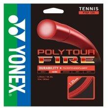 Besaitung mit Yonex Poly Tour Fire rot