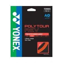 Yonex Poly Tour Rev (Polyester/achteckig) orange Tennissaite 12m Set
