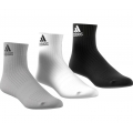 adidas Sportsocken Ankle schwarz/grau/weiss 3er