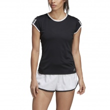 adidas Tennis-Shirt Club 3 Stripes schwarz Damen