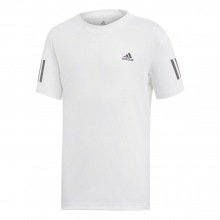 adidas Tshirt Club 3 Stripes weiss Boys