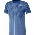 adidas Tshirt Colorblock Badminton 2019 blau Herren