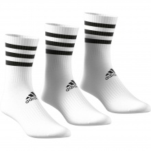 adidas Sportsocken Crew Cushion 3-Stripes weiss 3er