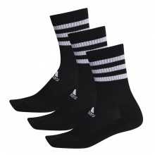 adidas Sportsocken Crew Cushion 3-Stripes schwarz 3er