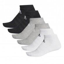 adidas Sportsocken Ankle Cushion Low schwarz/weiss/grau 6er