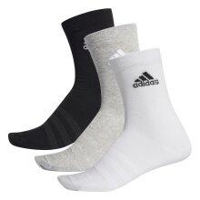 adidas Sportsocken Crew Light grau/weiss/schwarz 3er