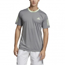 adidas Tshirt Club 3 Stripes grau Herren