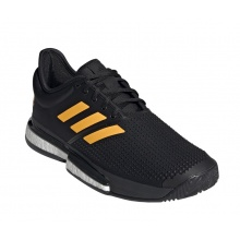 adidas SoleCourt Clay 2019 schwarz/orange Tennisschuhe Herren