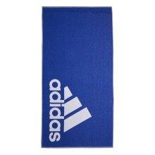 adidas Duschtuch (100% Baumwolle) Logo royalblau 140x70cm