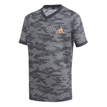 adidas Tshirt FreeLift Primeblue schwarz/orange Boys