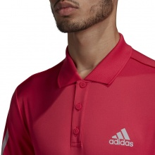 adidas Tennis-Polo Club 3-Streifen powerpink Herren