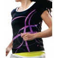 Asics Shirt Ayami schwarz/pink Damen