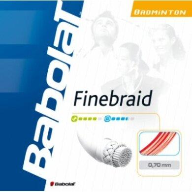 Babolat Finebraid weiss Badmintonsaite
