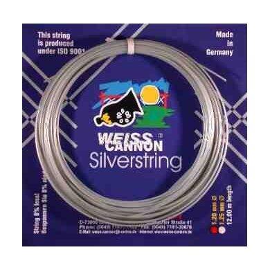 WeissCannon Silverstring silber Tennissaite