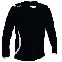 GECO Langarmshirt Levante schwarz/weiss Herren