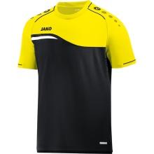 JAKO Tshirt Competition 2.0 2018 schwarz/neongelb Boys