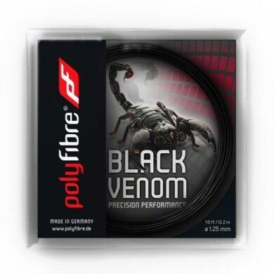Polyfibre Black Venom schwarz Tennissaite