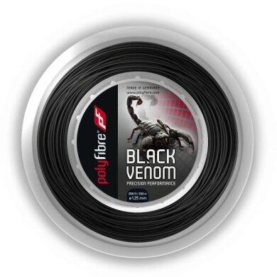 Polyfibre Black Venom schwarz 200 Meter Rolle