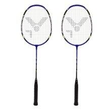 Victor AL2200 Badmintonschläger 2021 blau (2er SET) - besaitet -