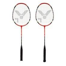 Victor AL2200 Badmintonschläger 2021 rot (2er SET) - besaitet -