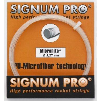 Besaitung mit Tennissaite Signum Pro Micronite (Touch+Kontrolle) natur