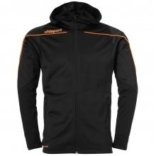 uhlsport Kapuzenjacke Stream 22 2019 schwarz/orange Boys