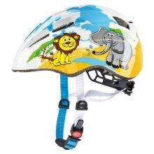 uvex Fahrradhelm Kid 2 Wüste Löwe+Elefant weiss/gelb