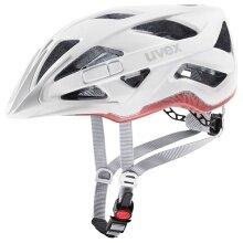 uvex Fahrradhelm active cc weiss/goji matt